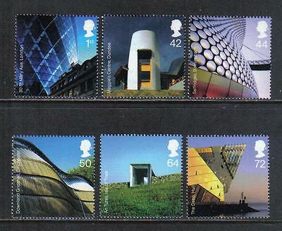Great Britain 2006 Modern Architecture--Attractive Topical (2378-83) MNH