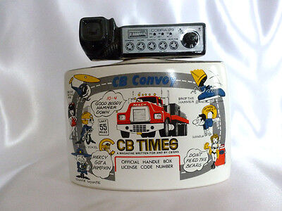 Vintage 1976 CB Convoy Trucker Times Cobra 29 Liquor Bottle Decanter Cork Intact