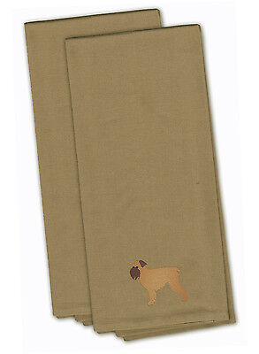 Brussels Griffon Tan Embroidered Kitchen Towel Set of 2