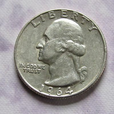1964-D 90% SILVER 25C Washington Quarter