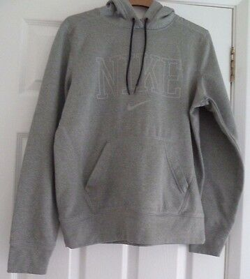 Nike Grey Hooded Long Sleeved Top Size M