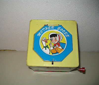 Vintage 1960'S Tin Litho Mother Goose Jack In Box