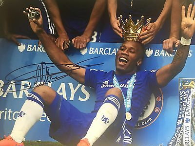 Didier Drogba Chelsea Original Hand Signed Photo 12x8 With COA