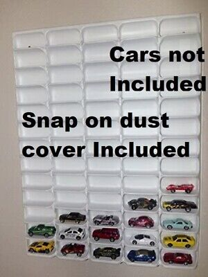 Hotwheels Display Case Matchbox 1/64 Scale Clear Collect Dust Cover 65 Cars View
