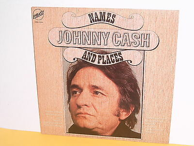 Lp - Johnny Cash - Names And Places - Embassy Emb 31548