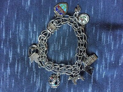 Sterling silver charm bracelet with PEI charms