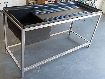 6 Ft DARKROOM SINK with stainless steel stand for Film Photography