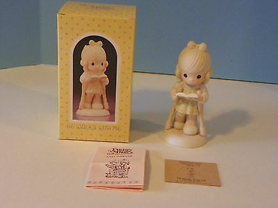 """Precious Moments """" He Walks with Me """" in original box # 107999"""