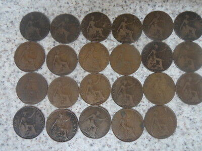 One Penny Collection of Coins 1900-1922 consecutively 23 in total