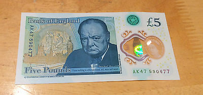 AK47 NEW Bank Of England Polymer Rare £5 Five Pound Note UK collectible
