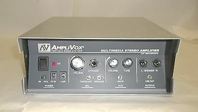 AmpliVOX Portable Sound Multimedia PA Stereo 25 X 2 Amplifier S-802