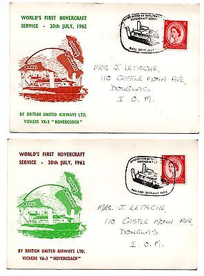 GB 1962 BUA Hovercraft cards - Cancelled Wallasey and Rhyl
