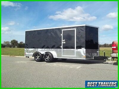2016 7 x 16 sport package New enclosed cargo motorcycle trailer special 7x16