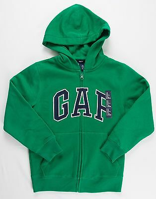 NWT GAP Kids Boys Hoodie Jacket Zip Up Sweatshirt Arch Logo 299510