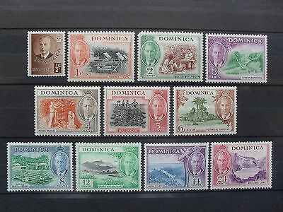 Dominica 1951. George VI. 1/2c - 24c New Currency. SG120-130. M/Mint.