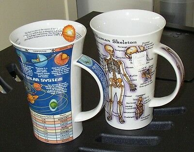 Dunoon Stoneware mugs Human Body and Solar System