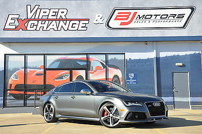 2014 Audi RS7 Leather 2014 Audi RS 7 Matt Black with Exclusive Package APR Tune and $146 MSRP