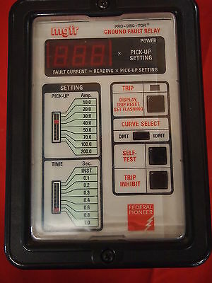 Federal Pioneer Mgfr-200-Zb Mgfr Pro-Dec-Tor Ground Fault Relay (1G2)