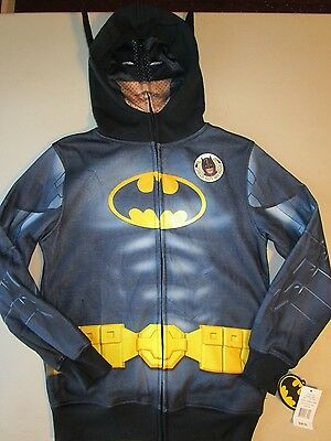 Batman Zip-Up Masked Hoodie Size Medium New With Tags