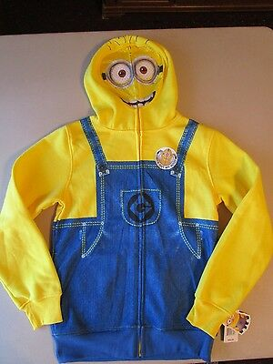 Despicable Me Minion Masked Hoodie Size Medium New With Tags