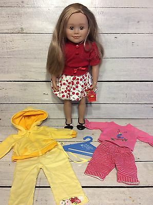 Maplelea Doll Leonie with Bonus Outfits! Like American Girl Doll