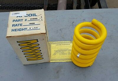 """NEW AFCO AFCOIL 21600 5"""" x 9.5"""" 1600 POUND SPRING! CIRCLE TRACK RACING. DIRT"""