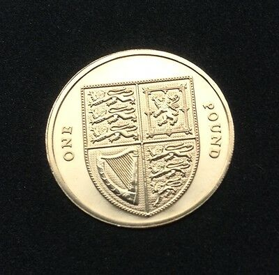 2009 ROYAL ARMS SHIELD £1 ONE POUND COIN UK Brilliant Uncirculated .,.,