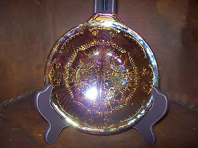 Amber Carnival Glass Seperated Dish