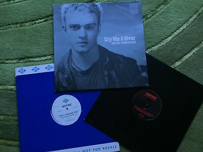 """Justin Timberlake/NSYNC - 3 x 12"""" singles - Cry Me A River +  PROMO COPY OF"""
