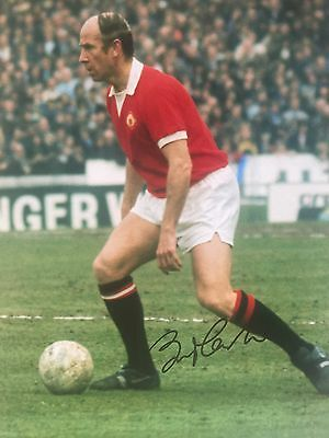 Bobby Charlton Manchester United Original Hand Signed Photo 12x8 With COA