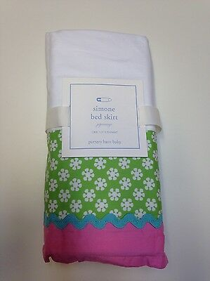New Pottery Barn Baby Simone Bed Skirt Crib Kids Hard To Find! Sold Out!