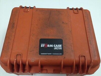"Lot Of 2 iM2100 Hardigg PELICAN STORM CASE USED 14.2""L x 11.4""W x 6.5""H"