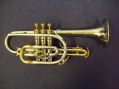 Solid Quality! King Tempo Silver Cornet +  King Case
