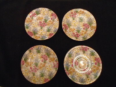 Royal Winton Marguerite Saucers Only Lot Of 4