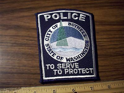 Washington State Police Patch's City of Bothell   TO SERVE TO Protect