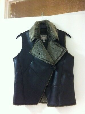 Girls Fur Gillet / Waistcoat By Next Age 7-8 Years