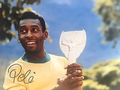 Pele Brazil Original Hand Signed Photo 12x8 With COA