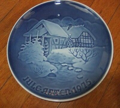 """Bing and Grondahl 1975 Christmas Plate """"At the Old Water-Mill"""""""