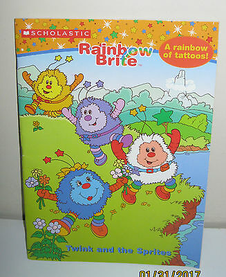 RAINBOW BRITE Twink & Sprites COLORING BOOK 2004 Activity Tattoos 1st prtg NEW