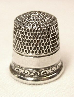 Antique Goldsmith Stern & Co. Sterling Silver Child's Thimble