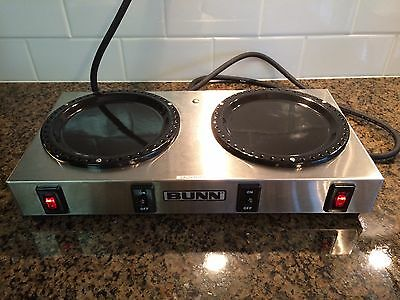 BUNN-O-MATIC  Double Hot Plate Burner WX-2 Stainless Steel works,Tested