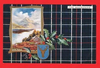 Tucks Scottish Clans The Mackenzie Tartan Loch Maree Free P&P to UK (ref T47)