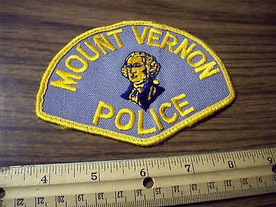 Washington State Police Patch's City of Mount Vernon Very Old Cheesecloth