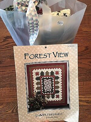 """Thimbleberries """"Forest View"""" Quilt Pattern & Christmas Fabric To Complete~$100"""