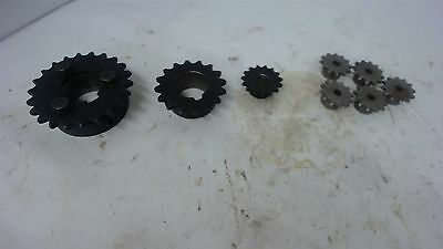 Lot Of 8 Various Sprockets, Sizes Include: 25B12, Hk2515-1-3/8, 35B16