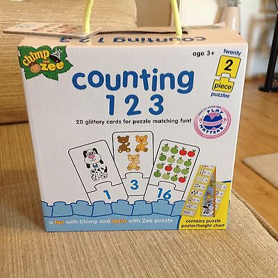 Preschool Jigsaw Puzzles, Chimp and Zee Counting 123 Puzzle Christmas Gift