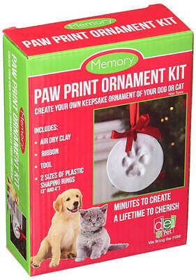 Santa's Lucky Dog Memory Paw Print Ornament Kit dog toy, pat toy, fast shipping
