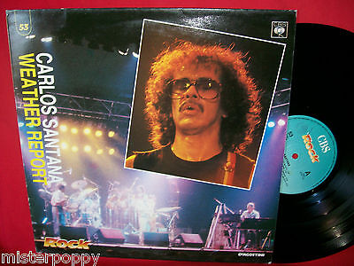 CARLOS SANTANA + WEATHER REPORT rare Promo only LP ITALY Unique Cover MINT