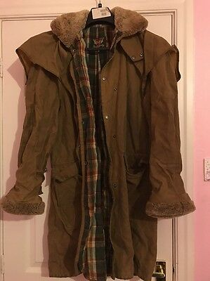 Mens Toggi Rough Country Wax Coat Size Medium
