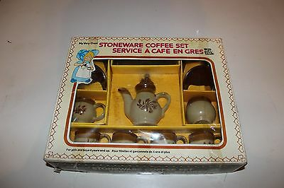 Vintage 1975 Toy Stoneware tea/coffee set with box complete  perfect condition!